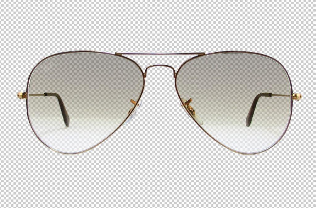 bilder freistellen brillen mit transparent
